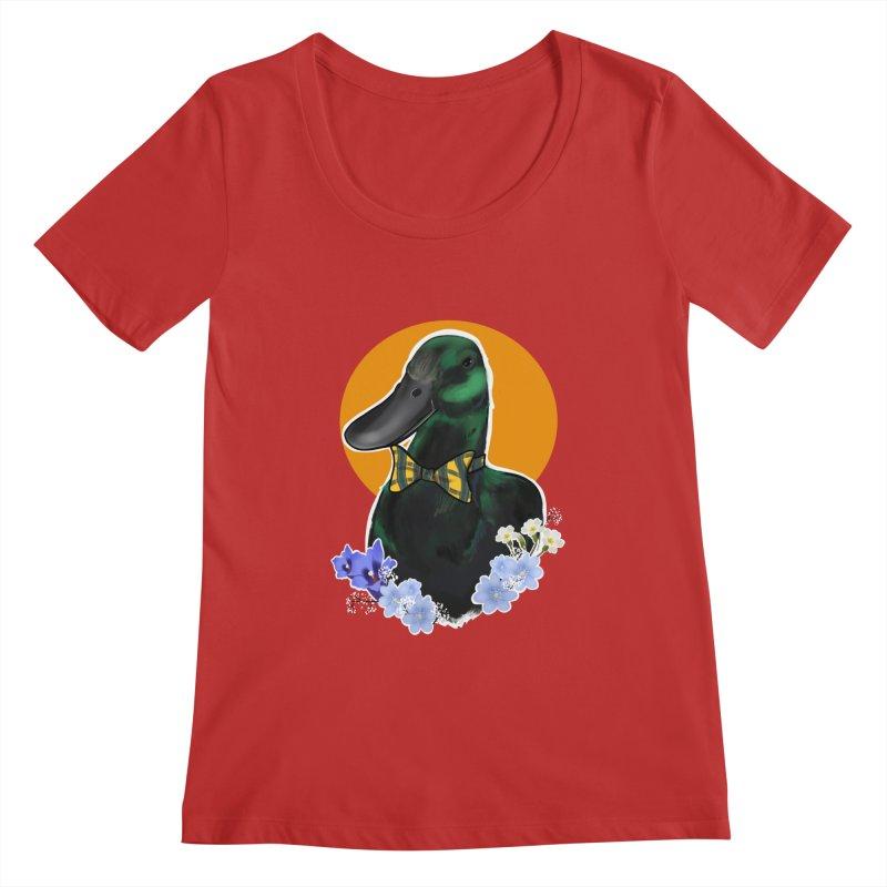 Snipps the duck Women's Regular Scoop Neck by Animegravy's Artist Shop