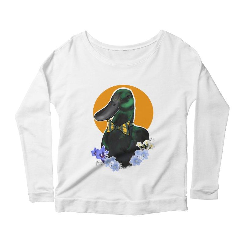 Snipps the duck Women's Scoop Neck Longsleeve T-Shirt by Animegravy's Artist Shop