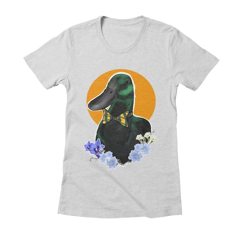 Snipps the duck Women's Fitted T-Shirt by Animegravy's Artist Shop