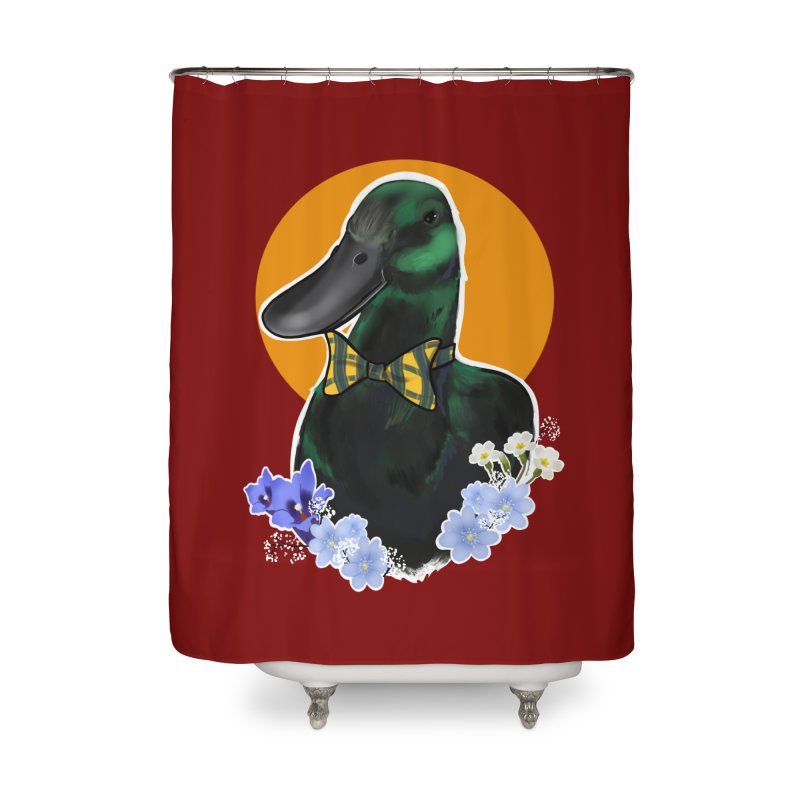 Snipps the duck Home Shower Curtain by Animegravy's Artist Shop