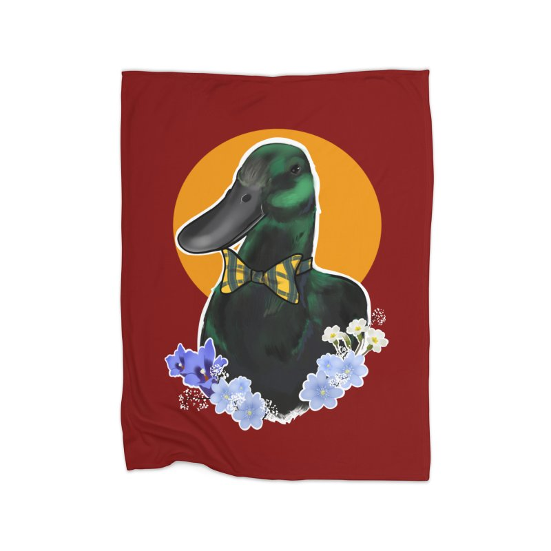 Snipps the duck Home Blanket by Animegravy's Artist Shop