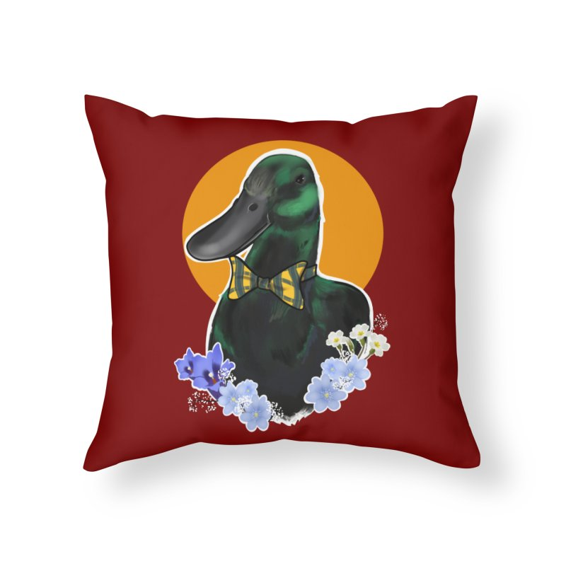 Snipps the duck Home Throw Pillow by Animegravy's Artist Shop