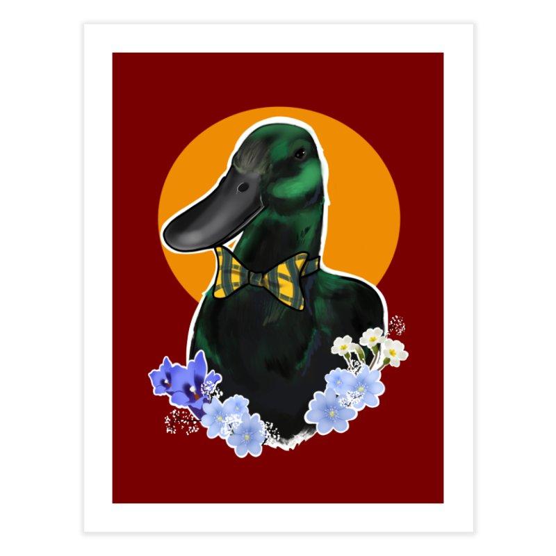 Snipps the duck Home Fine Art Print by Animegravy's Artist Shop