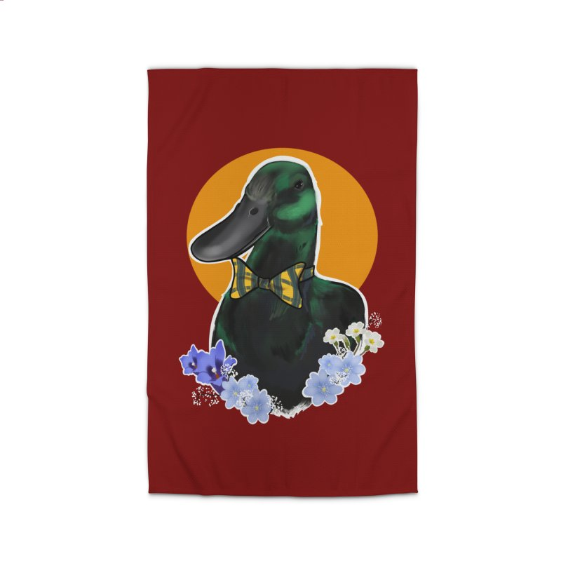 Snipps the duck Home Rug by Animegravy's Artist Shop