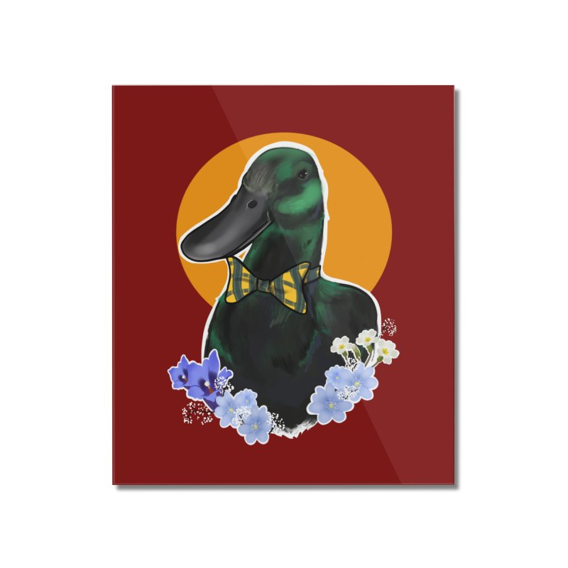 Snipps the duck Home Mounted Acrylic Print by Animegravy's Artist Shop