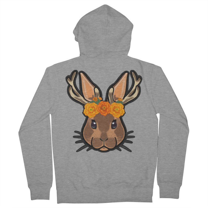 Jakalope Women's French Terry Zip-Up Hoody by Animegravy's Artist Shop