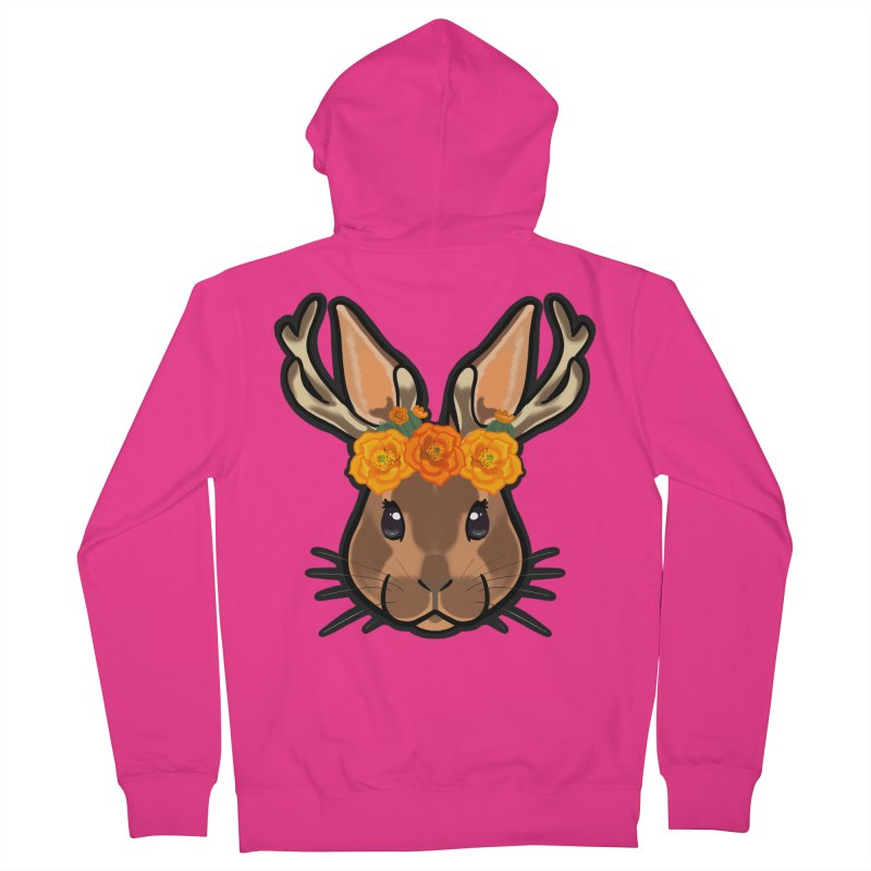 Jakalope Men's French Terry Zip-Up Hoody by Animegravy's Artist Shop