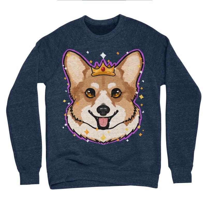 Royal corgi Men's Sponge Fleece Sweatshirt by Animegravy's Artist Shop