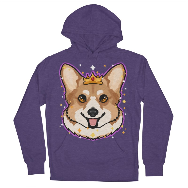 Royal corgi Men's French Terry Pullover Hoody by Animegravy's Artist Shop