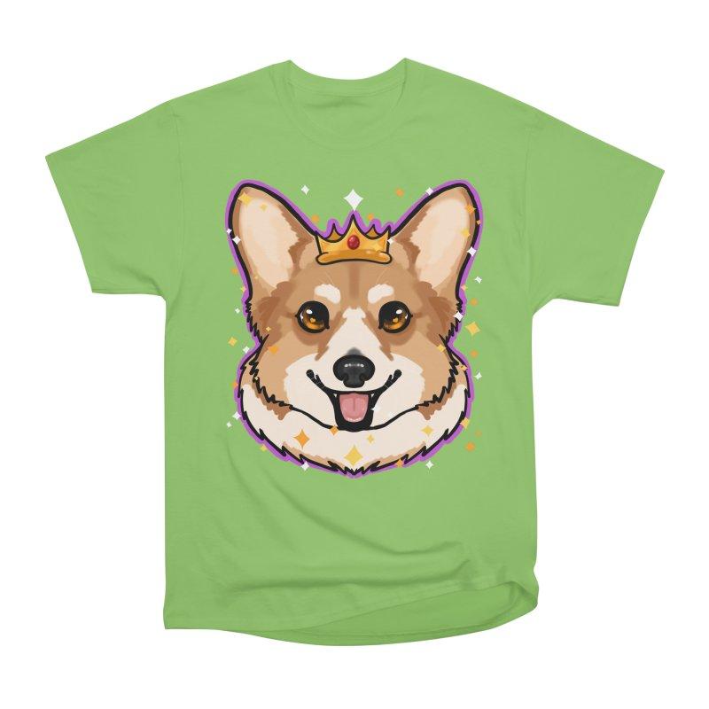 Royal corgi Men's Heavyweight T-Shirt by Animegravy's Artist Shop