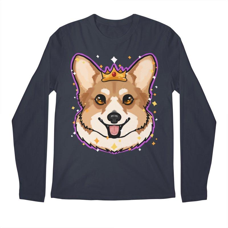 Royal corgi Men's Regular Longsleeve T-Shirt by Animegravy's Artist Shop