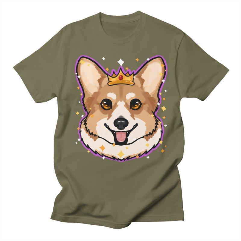 Royal corgi Women's Regular Unisex T-Shirt by Animegravy's Artist Shop
