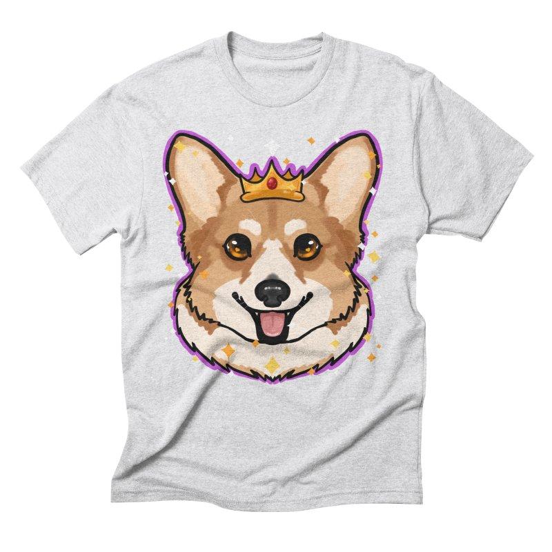 Royal corgi Men's Triblend T-Shirt by Animegravy's Artist Shop