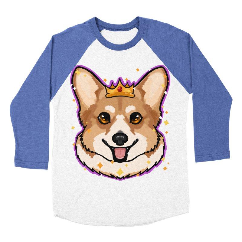 Royal corgi Women's Baseball Triblend Longsleeve T-Shirt by Animegravy's Artist Shop