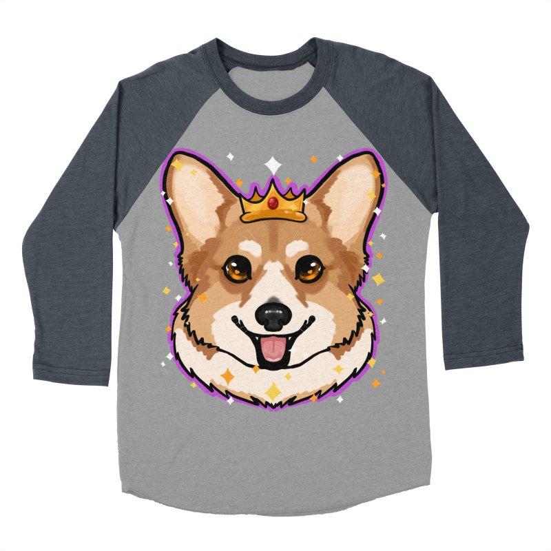 Royal corgi Men's Baseball Triblend Longsleeve T-Shirt by Animegravy's Artist Shop