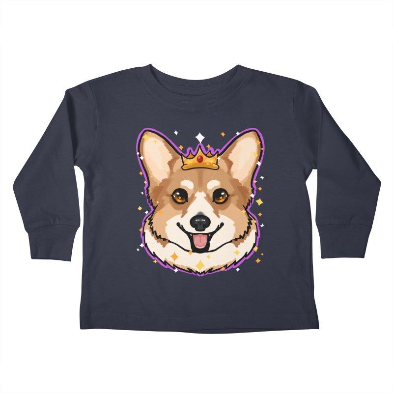 Royal corgi Kids Toddler Longsleeve T-Shirt by Animegravy's Artist Shop