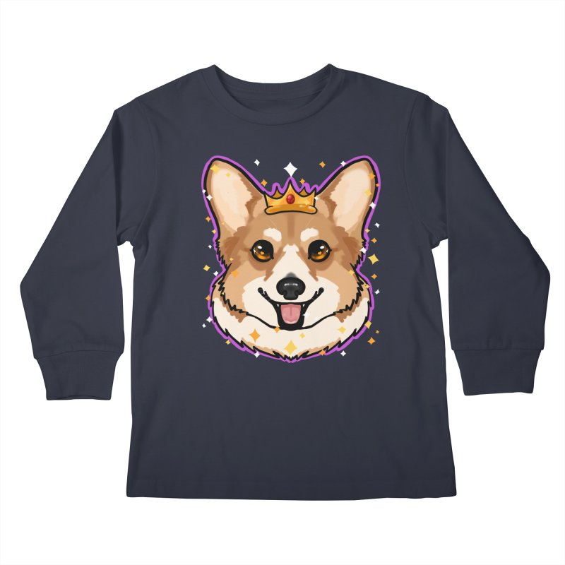 Royal corgi Kids Longsleeve T-Shirt by Animegravy's Artist Shop