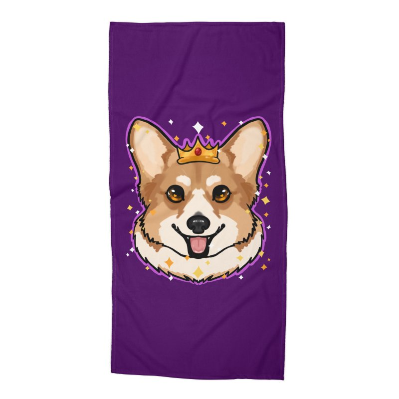Royal corgi Accessories Beach Towel by Animegravy's Artist Shop