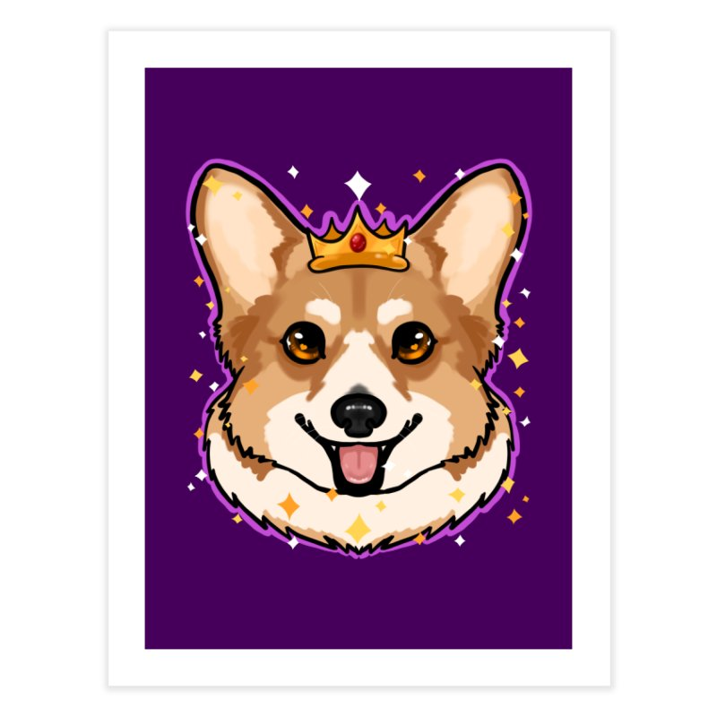 Royal corgi Home Fine Art Print by AnimeGravy