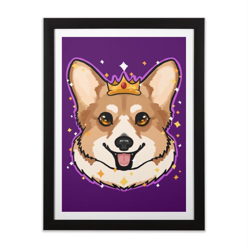 Royal corgi Home Framed Fine Art Print by AnimeGravy