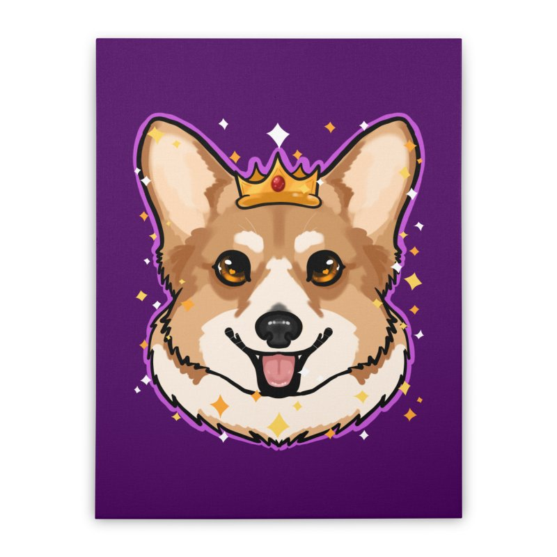 Royal corgi Home Stretched Canvas by AnimeGravy