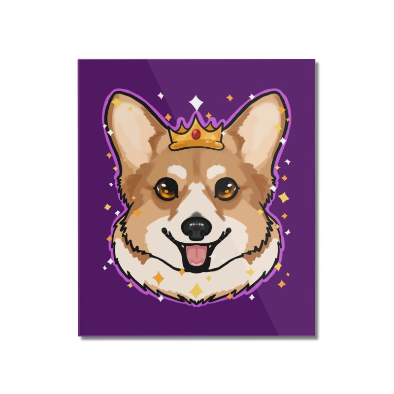 Royal corgi Home Mounted Acrylic Print by AnimeGravy