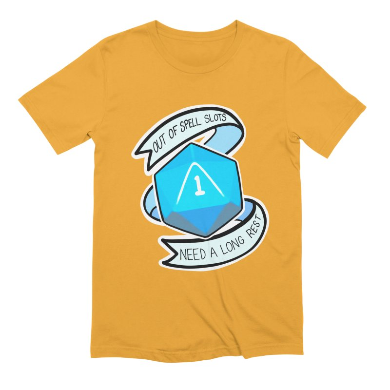 Out of spell slots Men's Extra Soft T-Shirt by Animegravy's Artist Shop