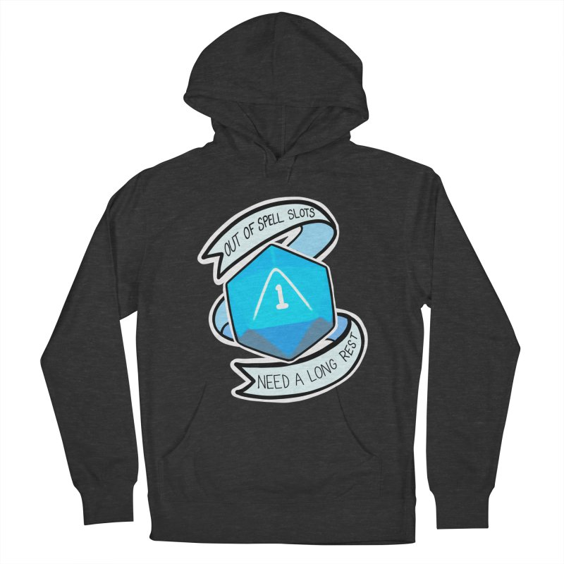 Out of spell slots Women's French Terry Pullover Hoody by Animegravy's Artist Shop
