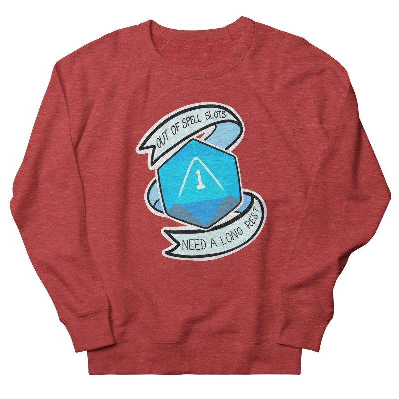 Out of spell slots Women's French Terry Sweatshirt by Animegravy's Artist Shop