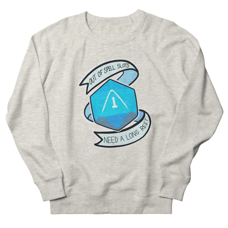 Out of spell slots Men's French Terry Sweatshirt by Animegravy's Artist Shop