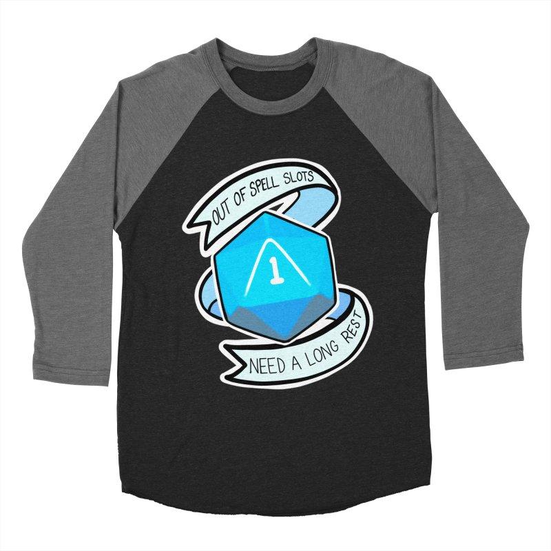 Out of spell slots Men's Baseball Triblend Longsleeve T-Shirt by Animegravy's Artist Shop