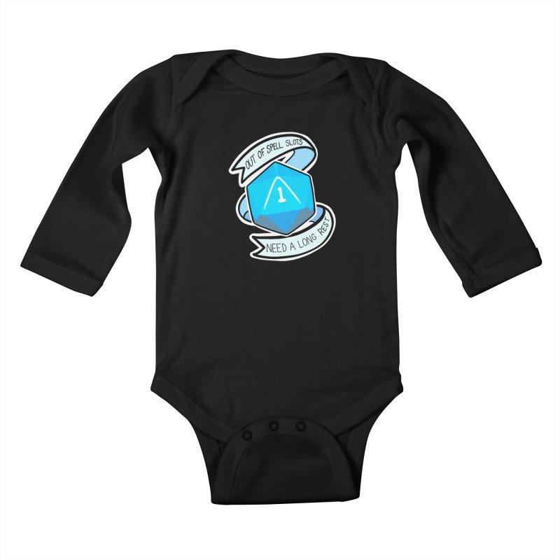 Out of spell slots Kids Baby Longsleeve Bodysuit by Animegravy's Artist Shop