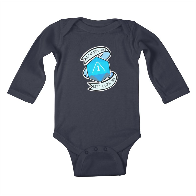 Out of spell slots Kids Baby Longsleeve Bodysuit by AnimeGravy