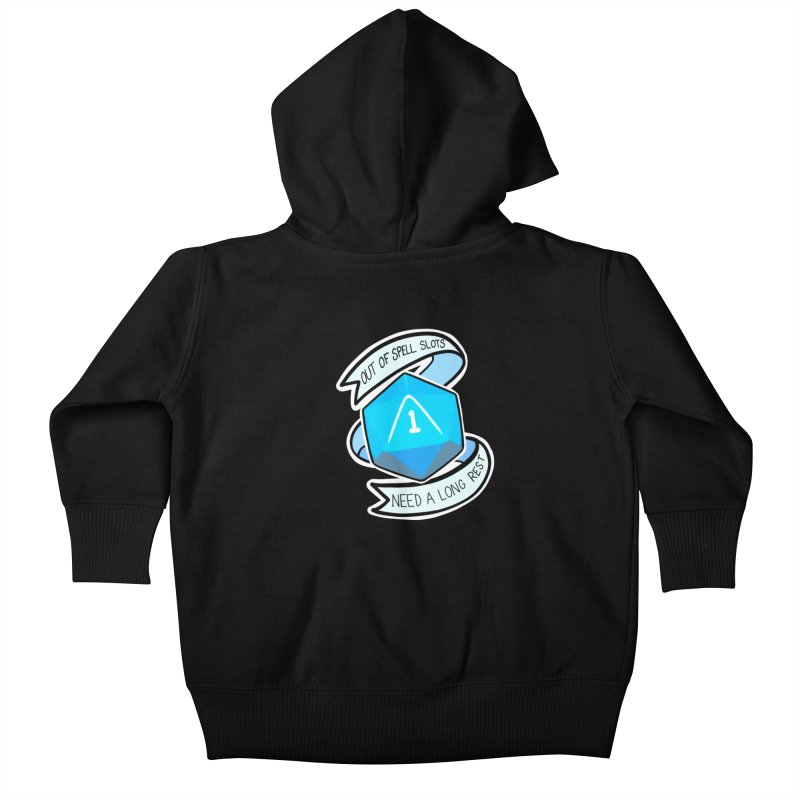 Out of spell slots Kids Baby Zip-Up Hoody by AnimeGravy