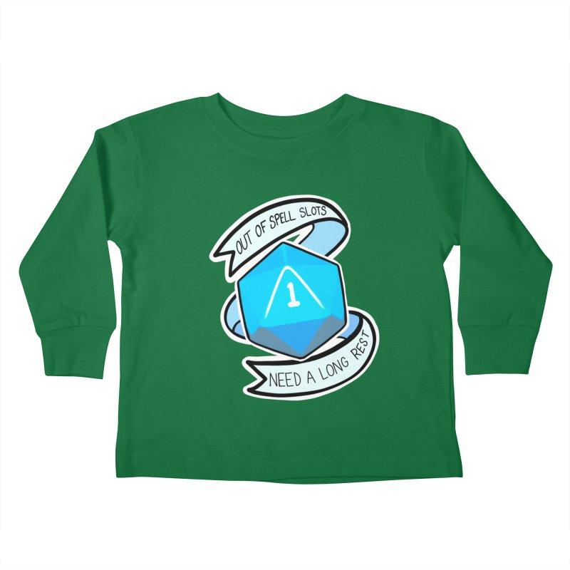 Out of spell slots Kids Toddler Longsleeve T-Shirt by AnimeGravy
