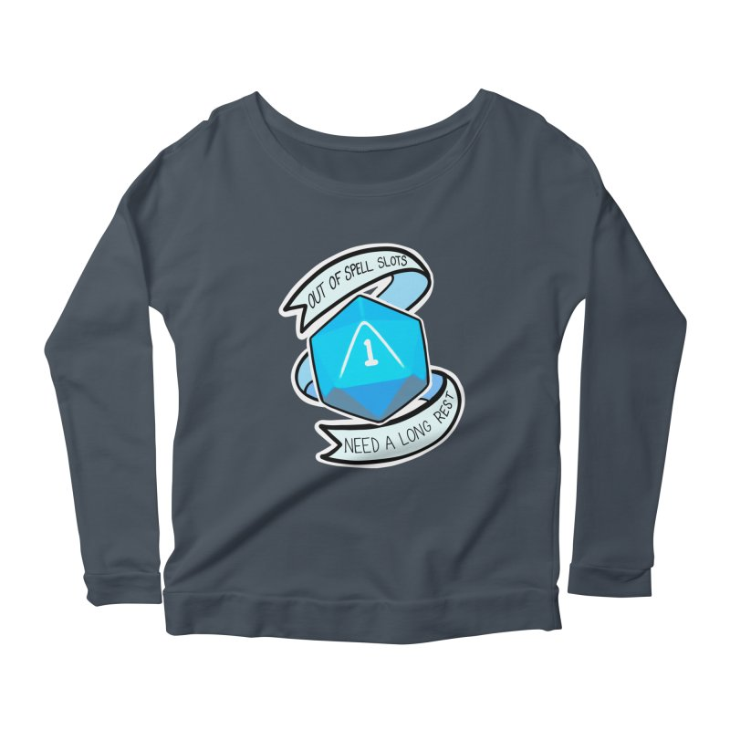Out of spell slots Women's Scoop Neck Longsleeve T-Shirt by Animegravy's Artist Shop