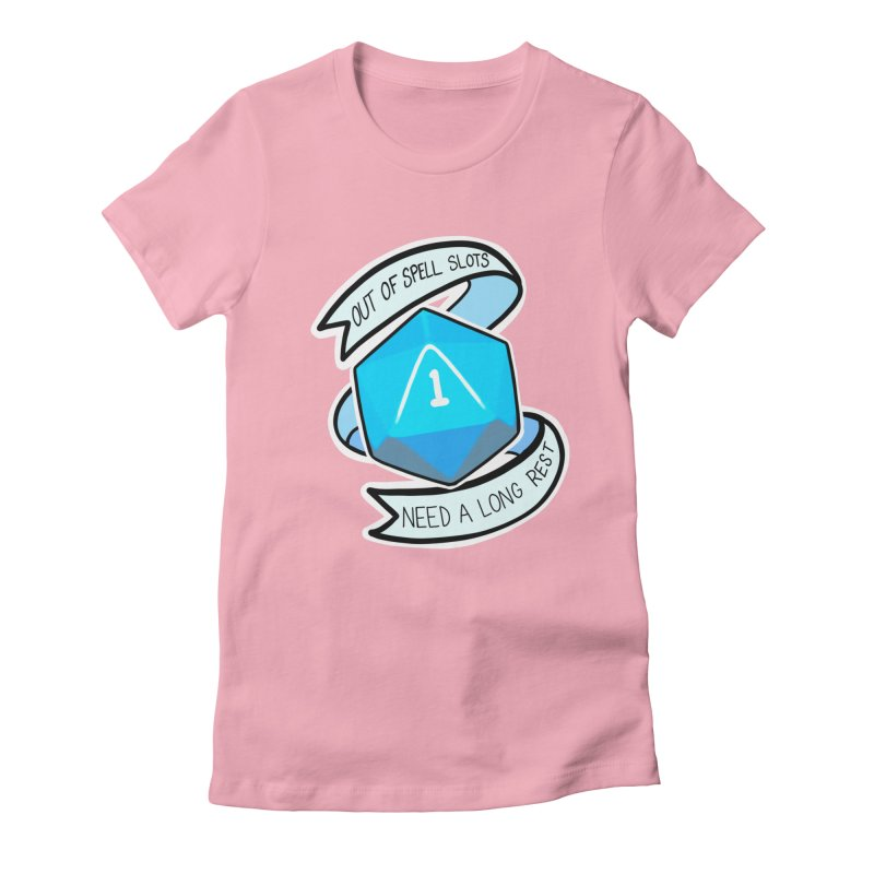 Out of spell slots Women's Fitted T-Shirt by Animegravy's Artist Shop