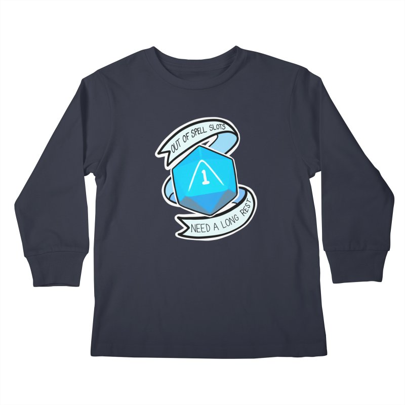 Out of spell slots Kids Longsleeve T-Shirt by AnimeGravy