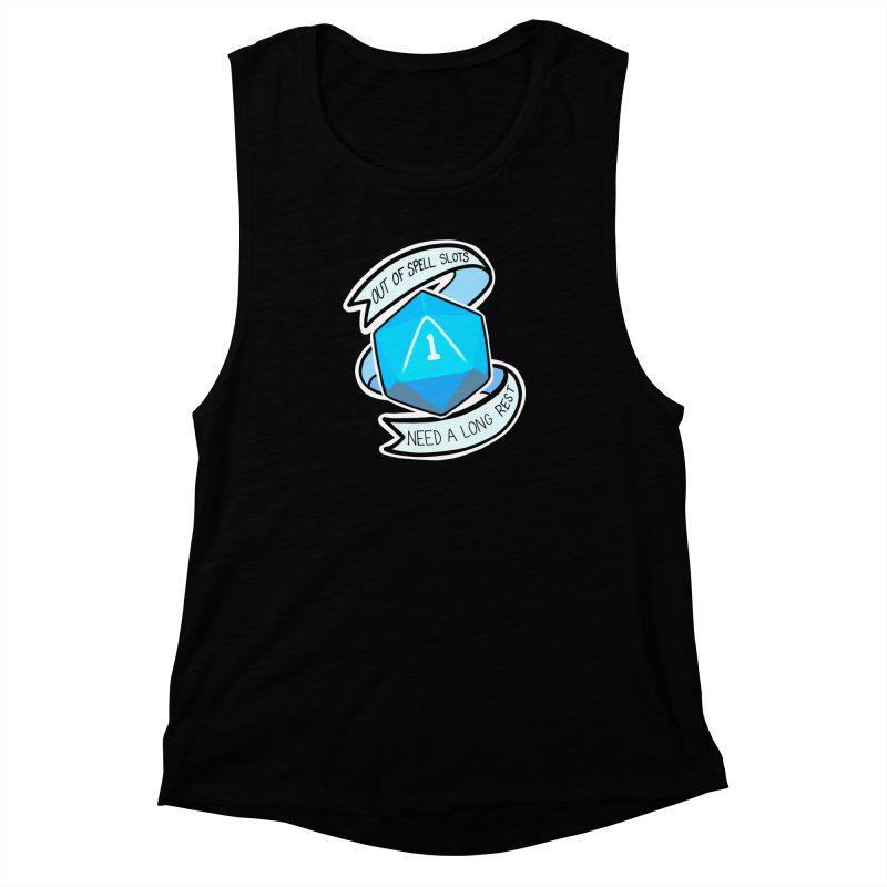 Out of spell slots Women's Muscle Tank by Animegravy's Artist Shop