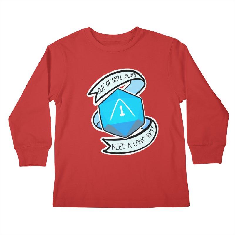 Out of spell slots Kids Longsleeve T-Shirt by Animegravy's Artist Shop