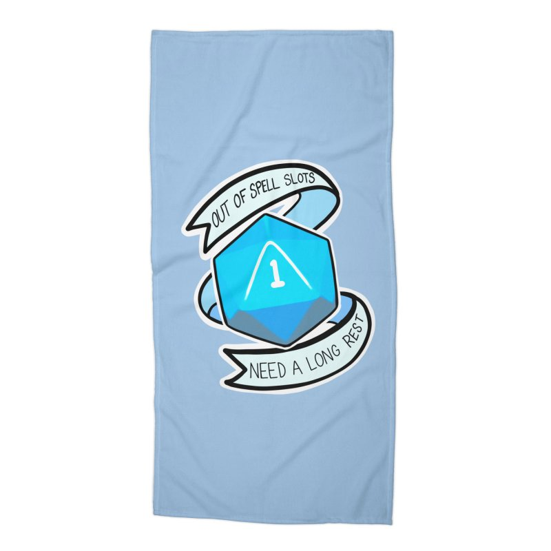 Out of spell slots Accessories Beach Towel by Animegravy's Artist Shop