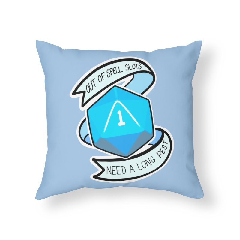 Out of spell slots Home Throw Pillow by Animegravy's Artist Shop