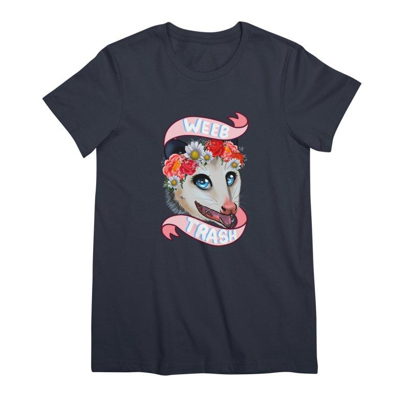 Weeb trash Women's Premium T-Shirt by AnimeGravy