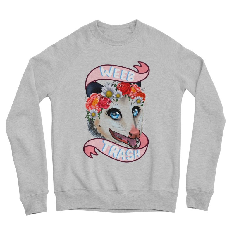 Weeb trash Women's Sponge Fleece Sweatshirt by Animegravy's Artist Shop