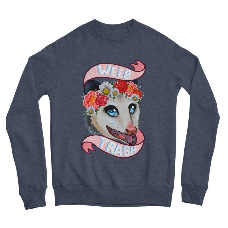 Weeb trash Women's Sponge Fleece Sweatshirt by Animegravy's Artist Shop