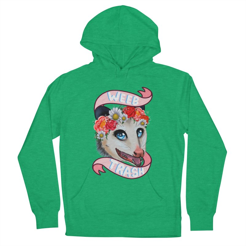 Weeb trash Women's French Terry Pullover Hoody by AnimeGravy