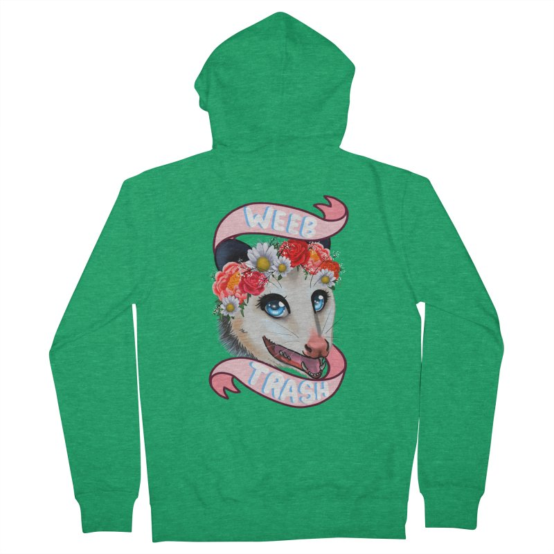 Weeb trash Women's French Terry Zip-Up Hoody by AnimeGravy
