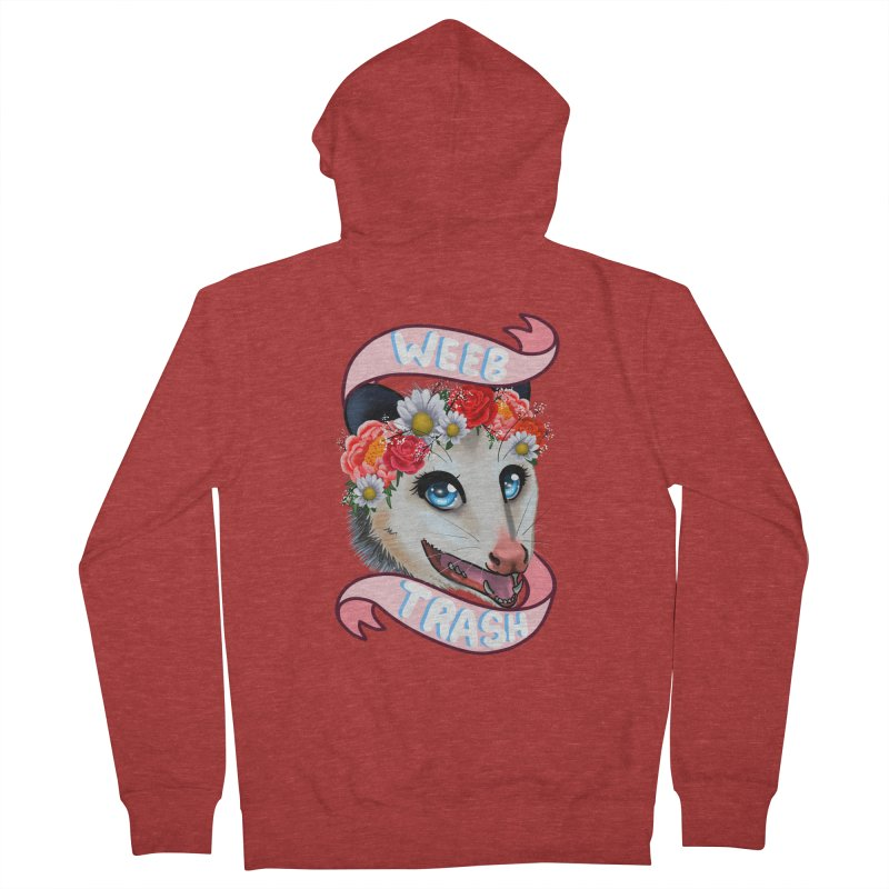Weeb trash Men's French Terry Zip-Up Hoody by AnimeGravy