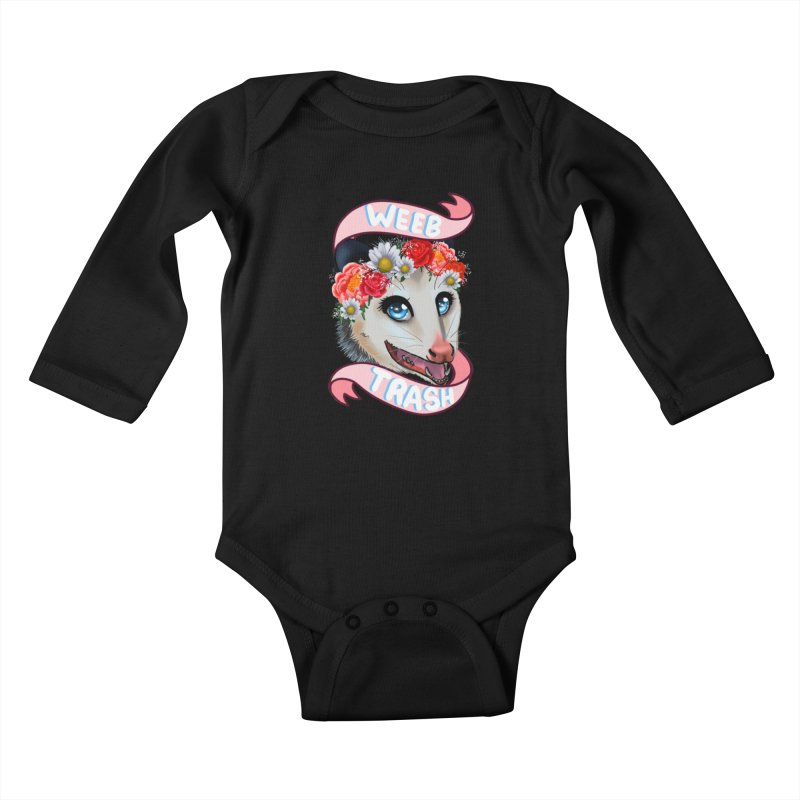 Weeb trash Kids Baby Longsleeve Bodysuit by Animegravy's Artist Shop