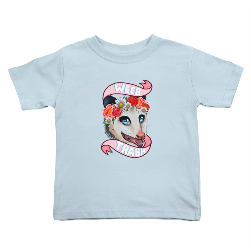 Weeb trash Kids Toddler T-Shirt by AnimeGravy